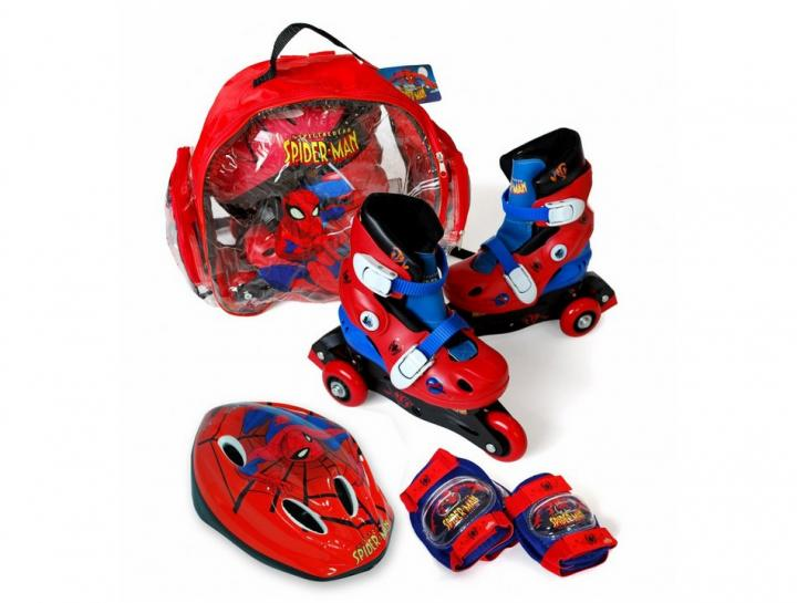 Pack de patines triskate de Spiderman