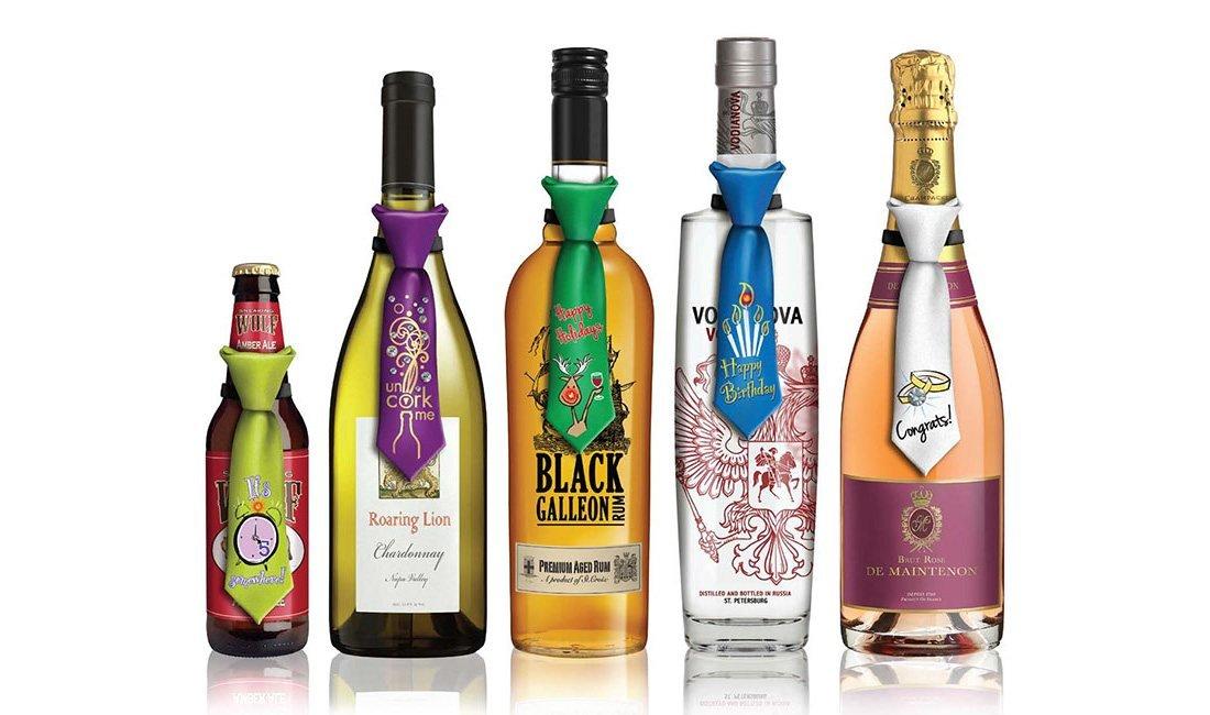 Corbatas Para Botellas. Ideas Para Regalar