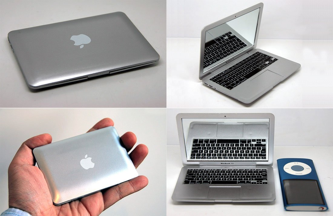Espejo de bolsillo con forma de macbook air ideas para - Espejos con formas para pared ...