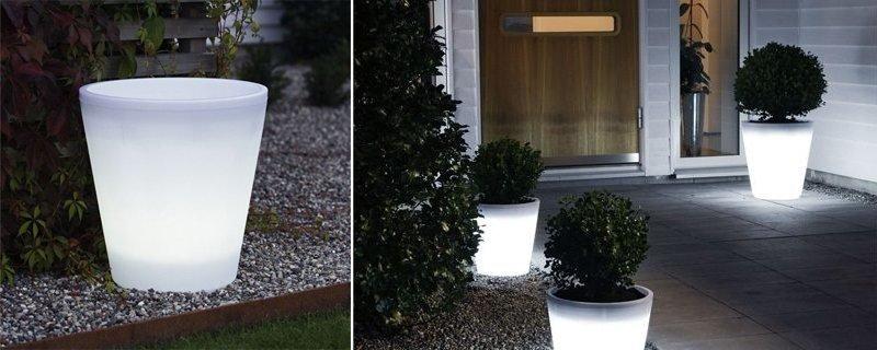 Macetas luminosas para el jard n ideas para regalar for Macetas para jardin