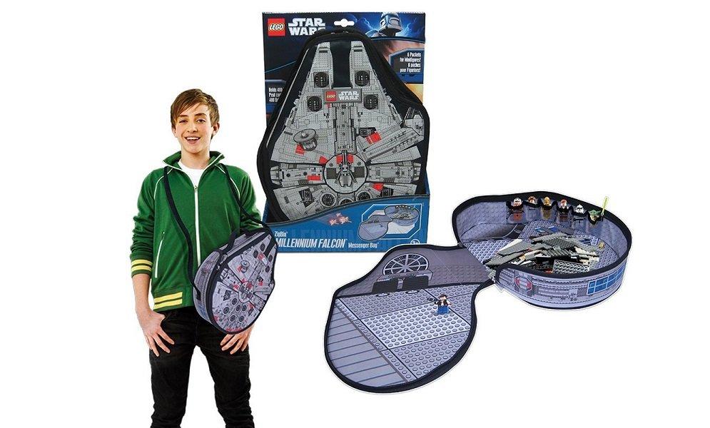 Mochila y alfombra de juegos de lego star wars halc n for Alfombras de juegos para ninos