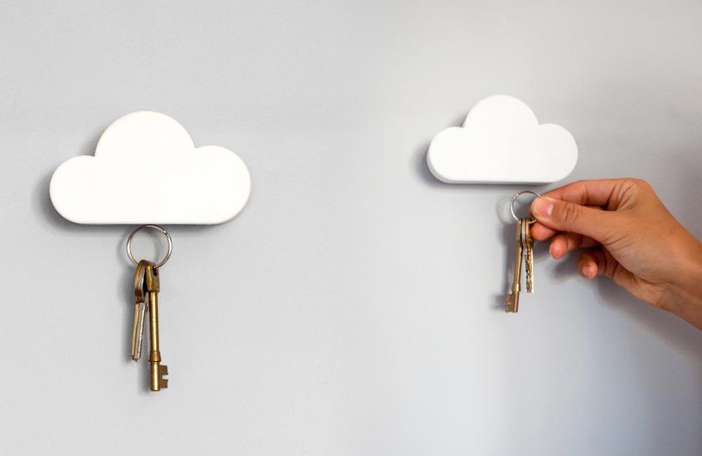 Portallaves cloud keyholder coloca las llaves en la nube ideas para regalar - Para colgar llaves ...