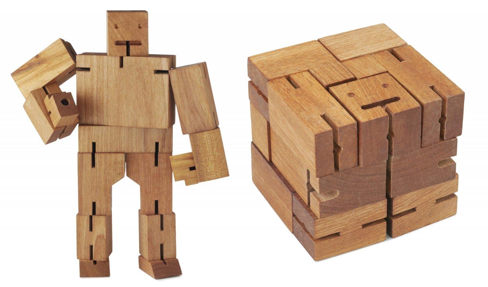 Puzzle de madera cubebot ideas para regalar for Fotos en madera