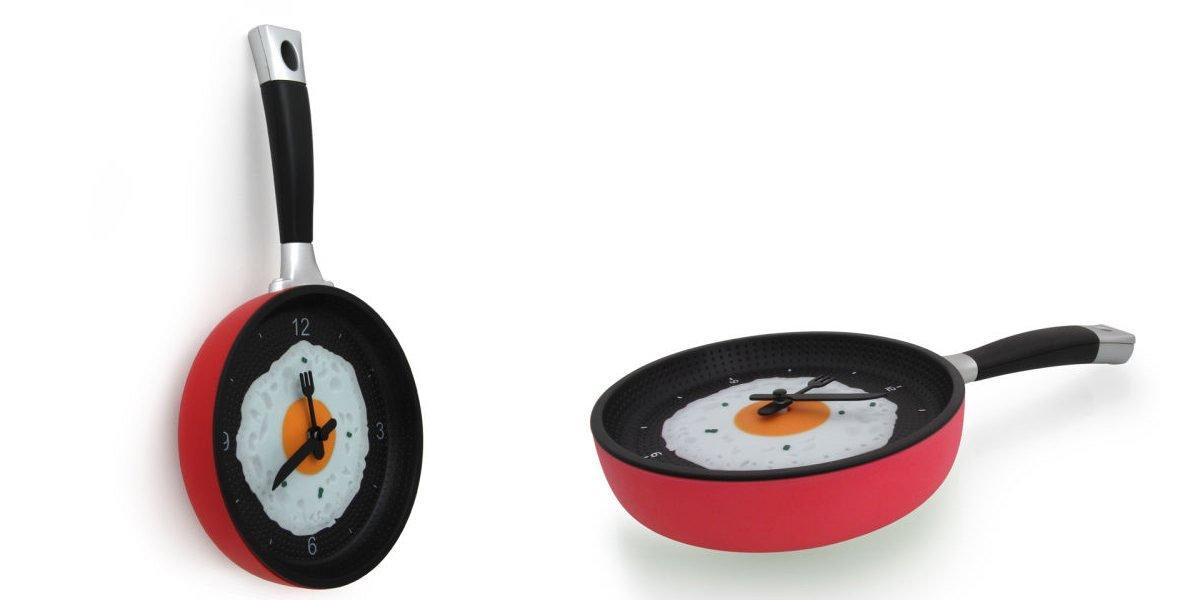 Reloj de cocina con forma de sart n ideas para regalar for Reloj de cocina original