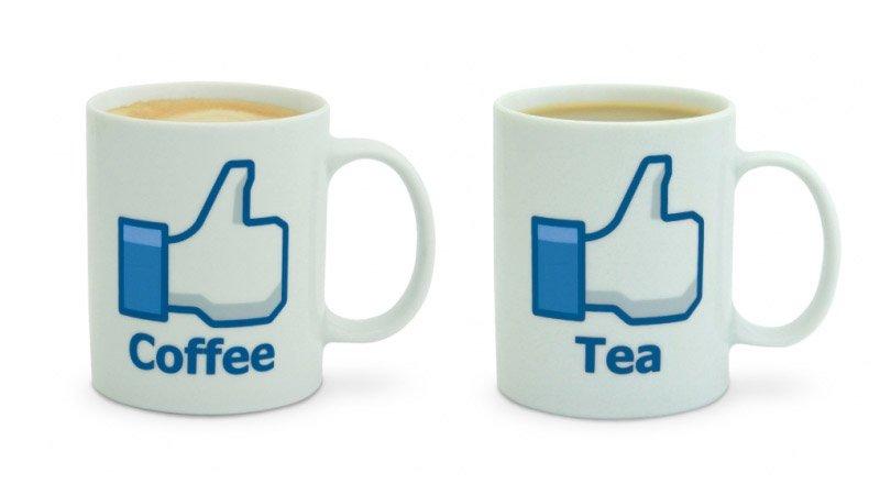 Taza de caf y de t estilo facebook ideas para regalar - Tazas de te originales ...